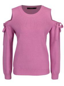 Ružový sveter s prestrihmi na ramenách VERO MODA Celena