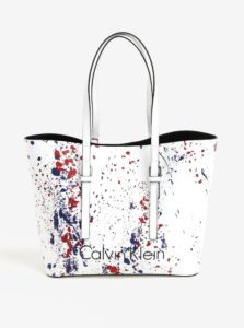 Biely shopper s puzdrom 2v1 Calvin Klein Jeans