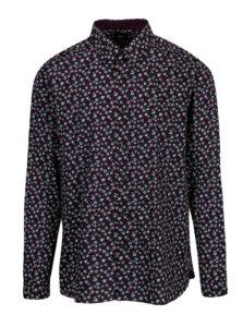 Fialová kvetovaná košeľa Burton Menswear London