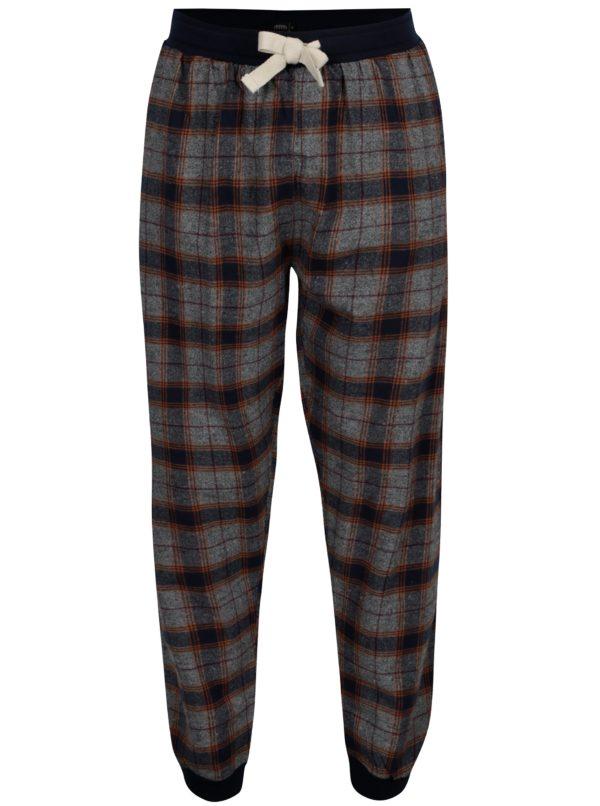 Modro-sivé pyžamové nohavice Burton Menswear London