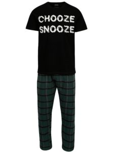 Čierno-zelené pyžamo Burton Menswear London