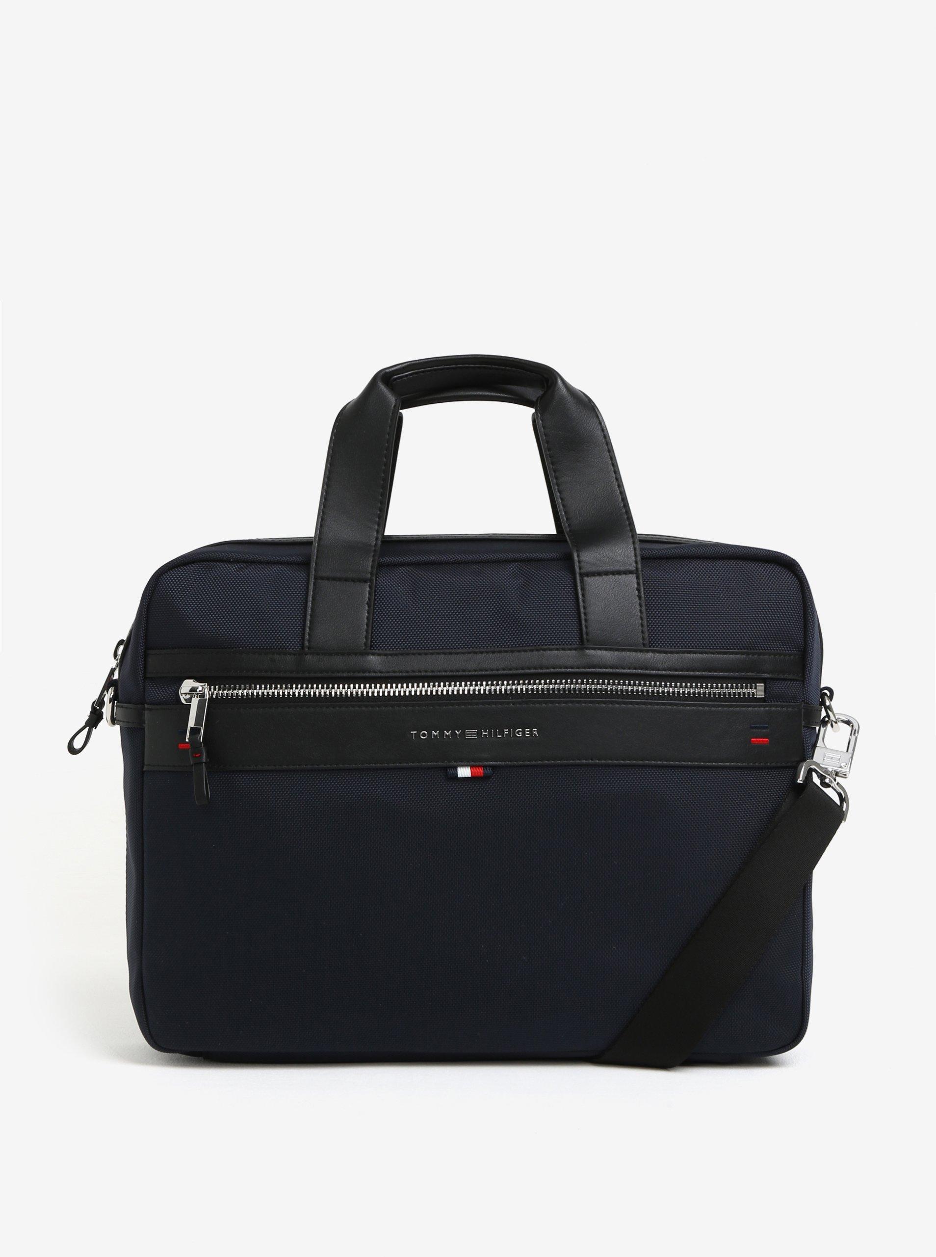 f025dc0275 Tmavomodrá pánska taška na notebook Tommy Hilfiger Elevated