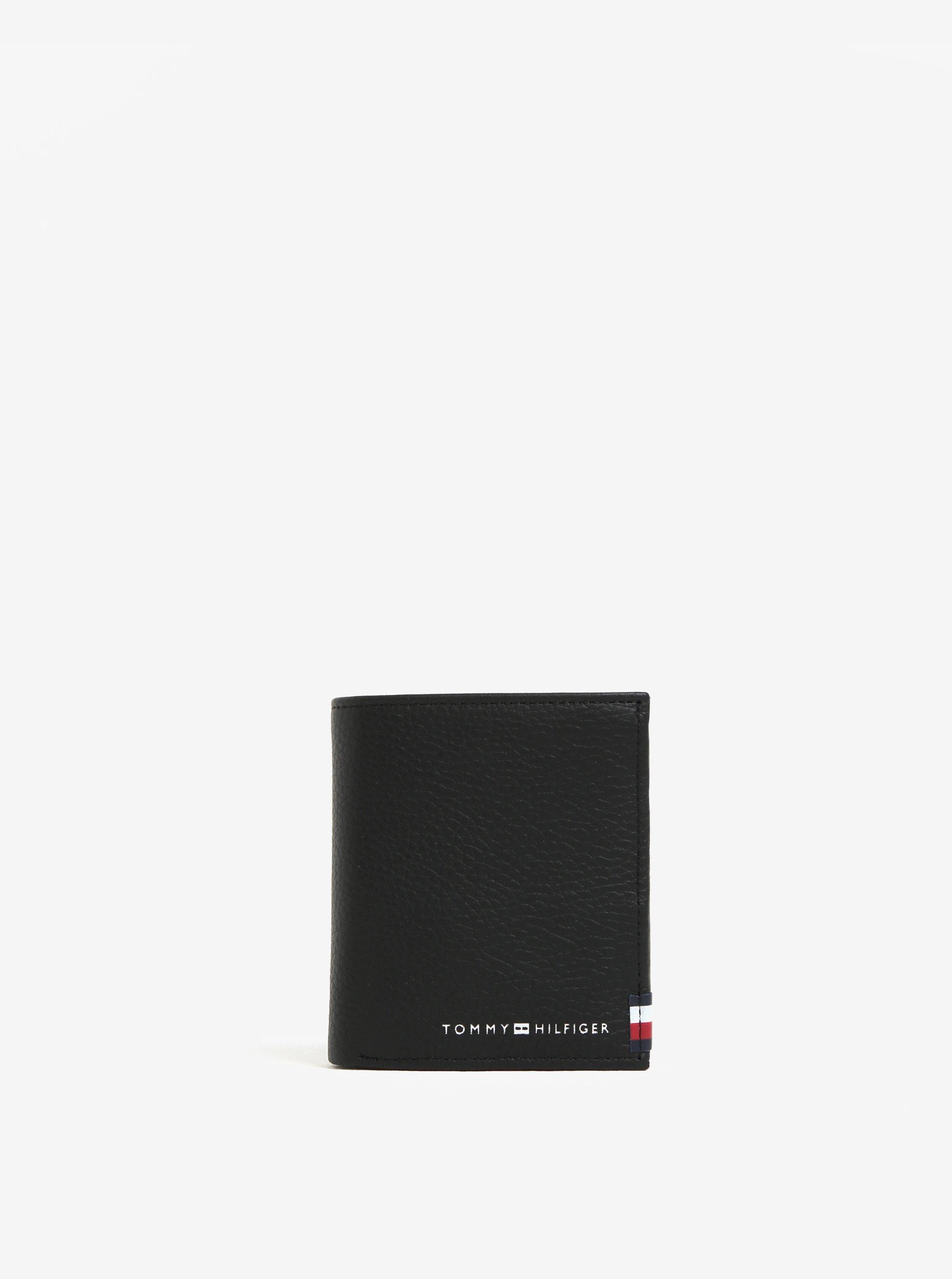 7567878164 Čierna pánska kožená peňaženka Tommy Hilfiger Soft