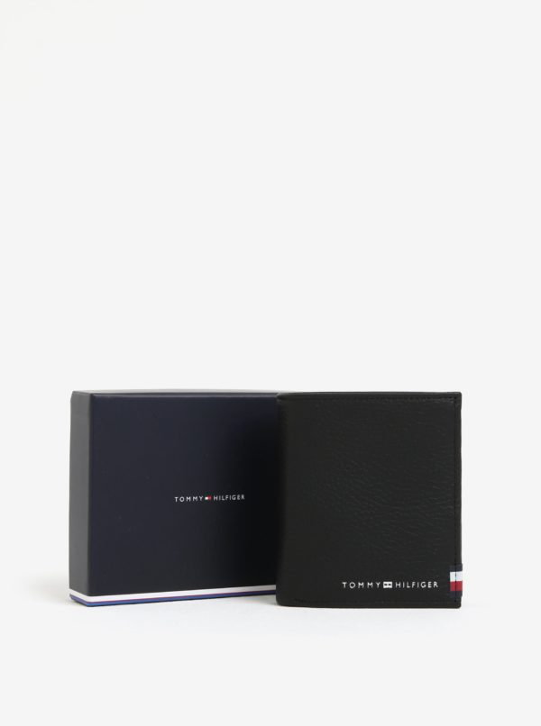 Čierna pánska kožená peňaženka Tommy Hilfiger Soft