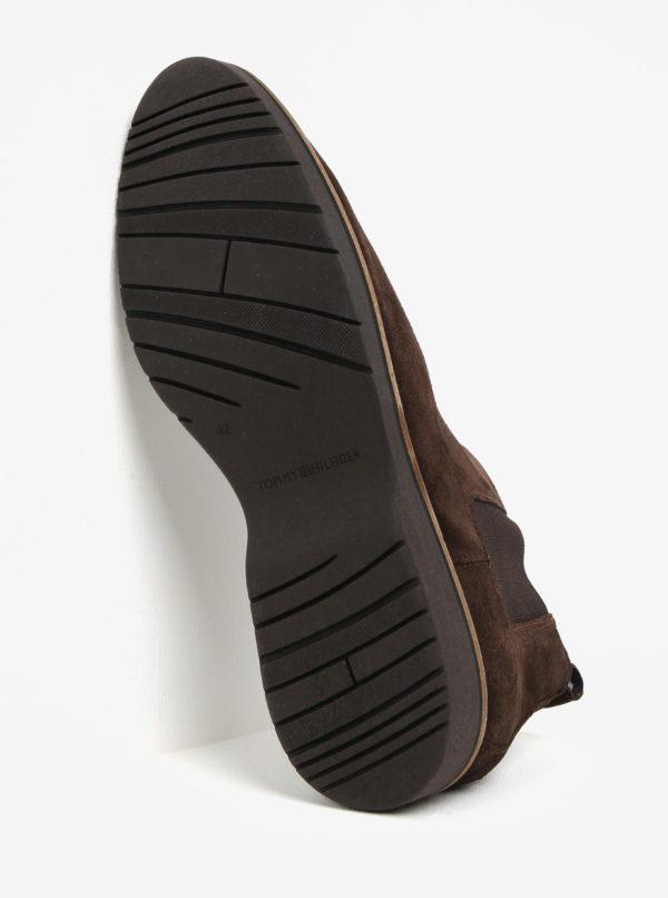 59d3e04f1 Tmavohnedé pánske semišové chelsea topánky Tommy Hilfiger | Moda.sk