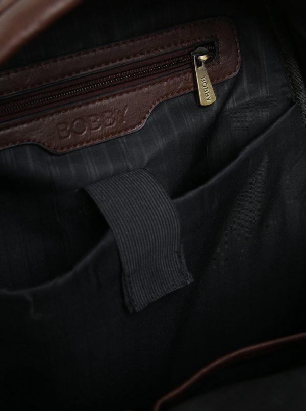 Hnedý batoh s vreckom Bobby Black