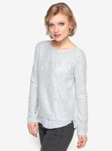 Sivý sveter s flitrami a všitou blúzkou Oasis Sequin