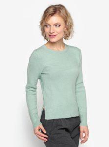 Zelený sveter s okrúhlym výstrihom Oasis The Perfect