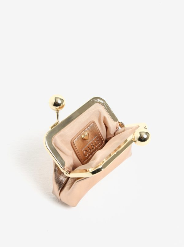 Peňaženka v ružovo-zlatej farbe Oasis