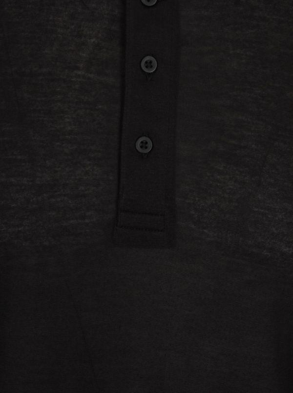 Čierne oversize tričko s dlhým rukávom Selected Homme Splint