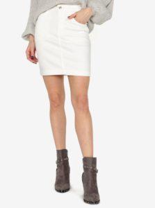 Krémová rifľová sukňa MISSGUIDED