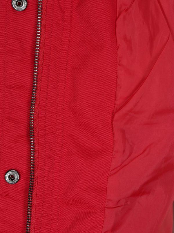 Červená parka s kapucňou ONLY New Lorca