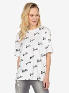 Biele oversize tričko s potlačou MISSGUIDED