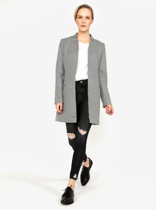 Sivý kabát MISSGUIDED