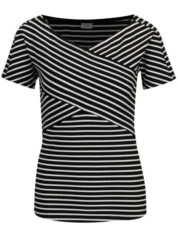 Bielo-čierny pruhovaný top Jacqueline de Yong Akili