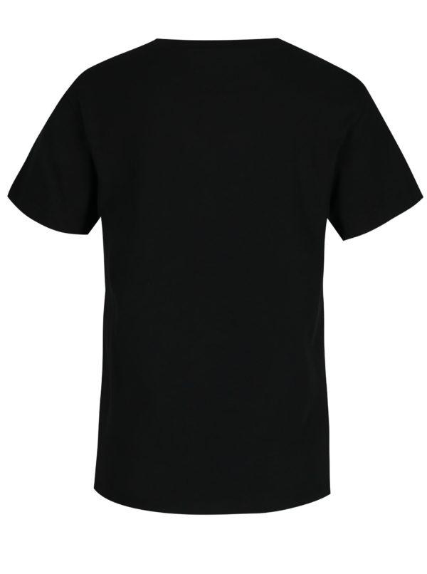 Čierne dámske tričko s potlačou Vans Flying
