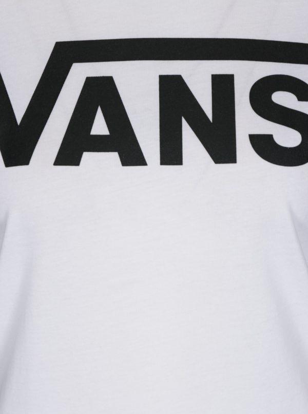 Čierno-biele dámske tričko s potlačou Vans Flying