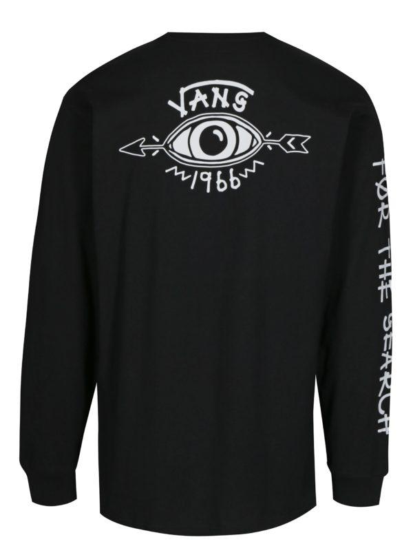 Čierne pánske tričko s potlačou Vans Dakota