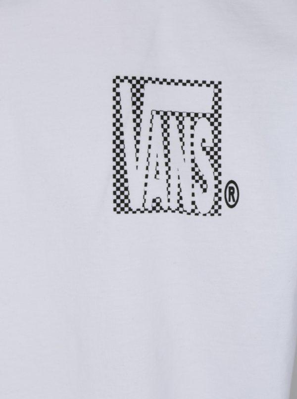 Biele pánske tričko s potlačou Vans New Checker