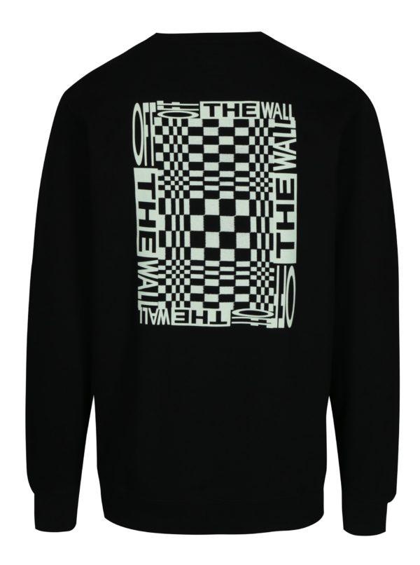 Čierna pánska mikina s potlačou Vans New Checker
