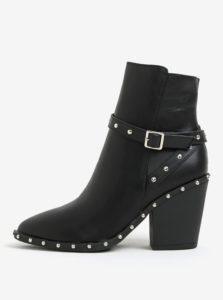Čierne členkové topánky s aplikáciou MISSGUIDED