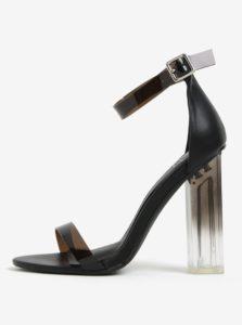 311bd667a033 Čierne sandále na vysokom transparentnom podpätku MISSGUIDED