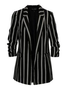 Čierno–biele pruhované sako Miss Selfridge