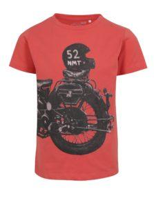 Oranžové chlapčenské tričko s potlačou name it Hike