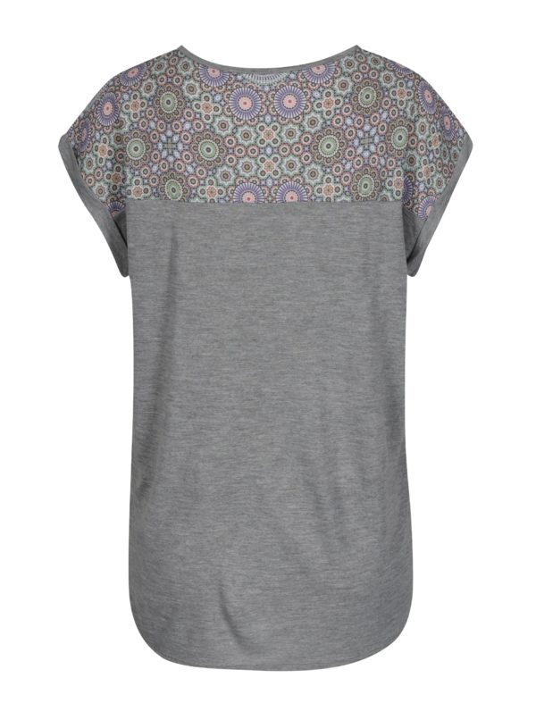 Sivé tričko s potlačou Desigual Claudine