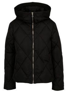 Čierna prešívaná bunda Miss Selfridge