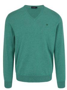 Zelený sveter s véčkovým výstrihom Hackett London