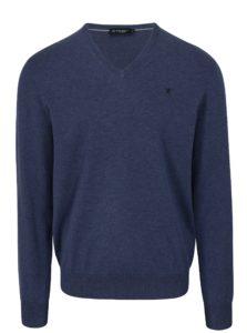 Modrý sveter s véčkovým výstrihom Hackett London