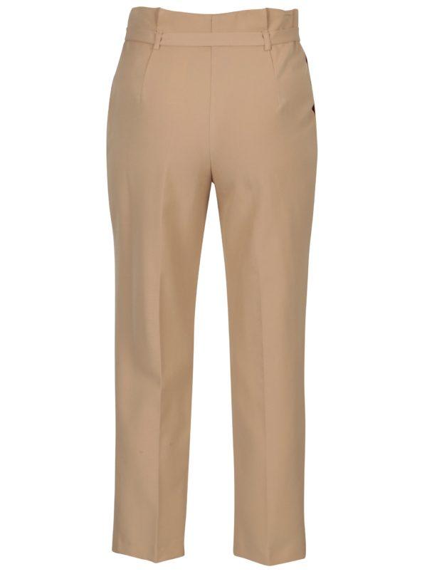 Béžové skrátené nohavice Miss Selfridge
