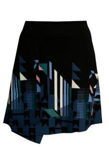 Čierna prekladaná sukňa s potlačou Desigual Aunice
