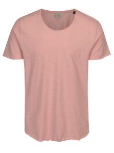 Ružové melírované tričko Jack & Jones Bas