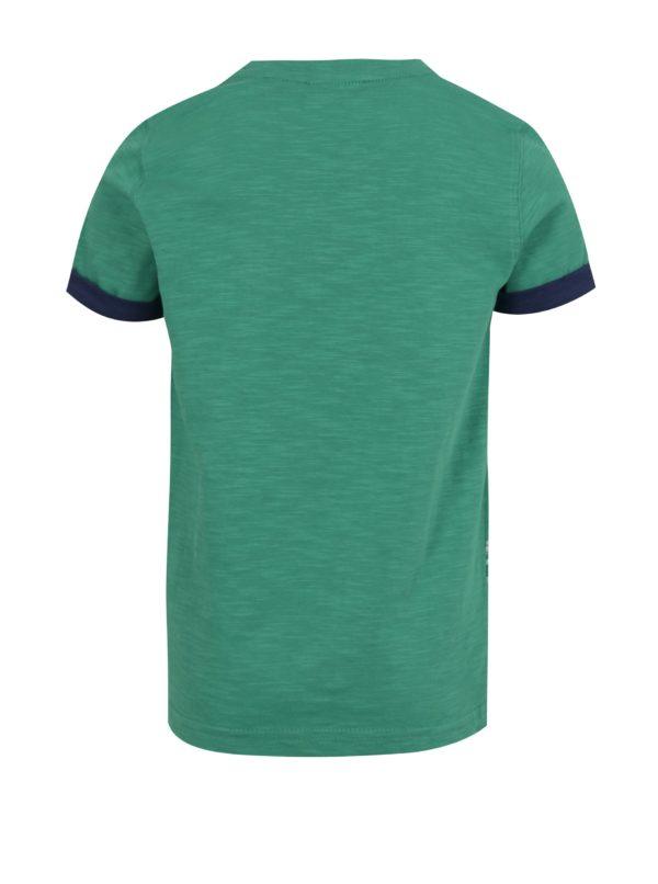 Zelené chlapčenské tričko s potlačou žraloka Blue Seven
