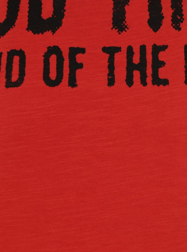 Červené chlapčenské tričko s potlačou bez rukávov Blue Seven