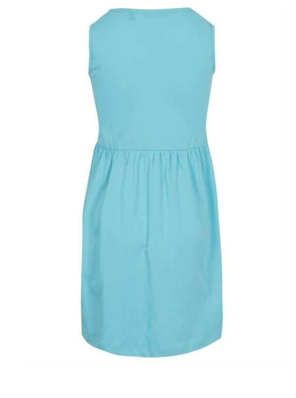 Tyrkysové dievčenské šaty s magickými flitrami Blue Seven