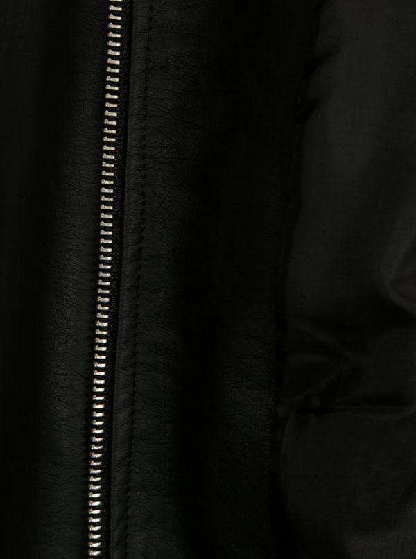 Čierna koženková bunda Jacqueline de Yong Dream