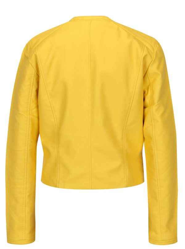 Žltá koženková bunda Jacqueline de Yong Dream