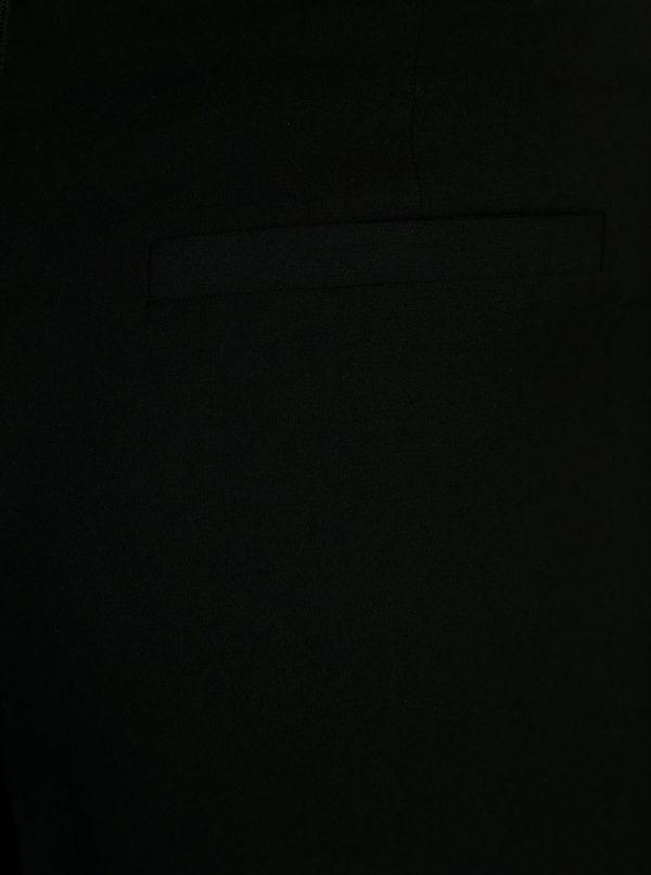 Čierne culottes nohavice s mašľou ONLY Karolina