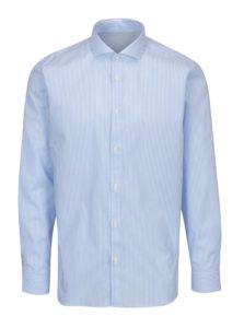 Svetlomodrá pruhovaná slim fit košeľa Selected Homme Done Sel