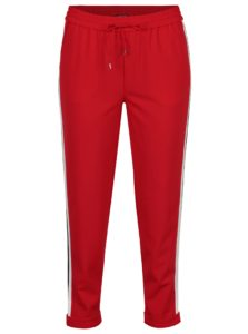 Červené nohavice s pruhmi ONLY Roma