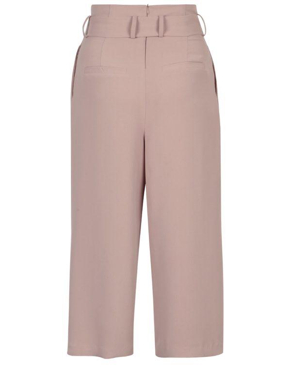 Staroružové culottes nohavice s mašľou ONLY Karolina