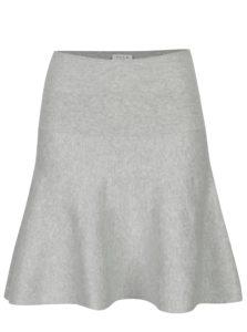 Svetlosivá svetrová sukňa VILA Bekka