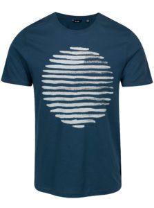 Modré tričko s potlačou ONLY & SONS Baldur