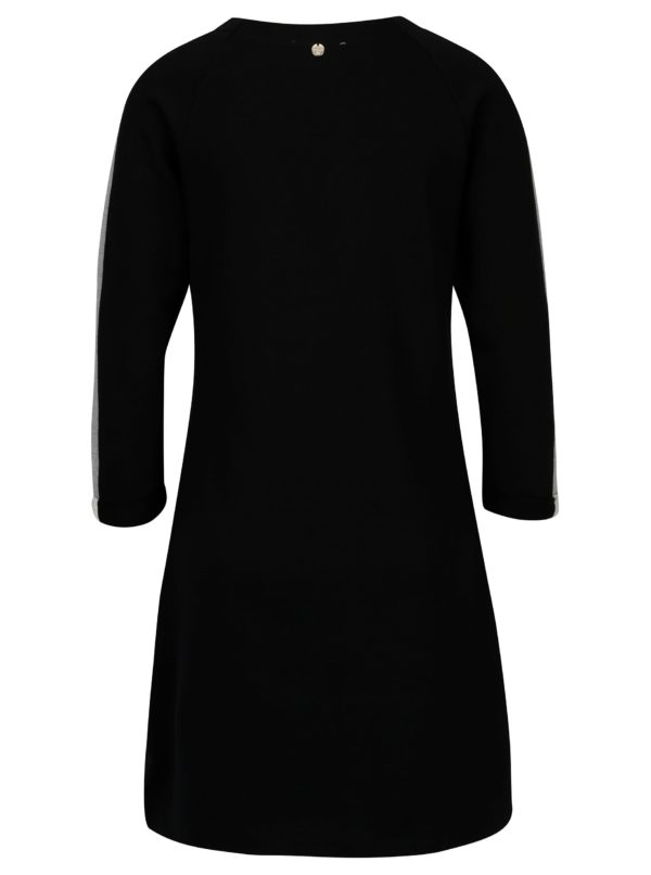 Čierne mikinové šaty Rich & Royal