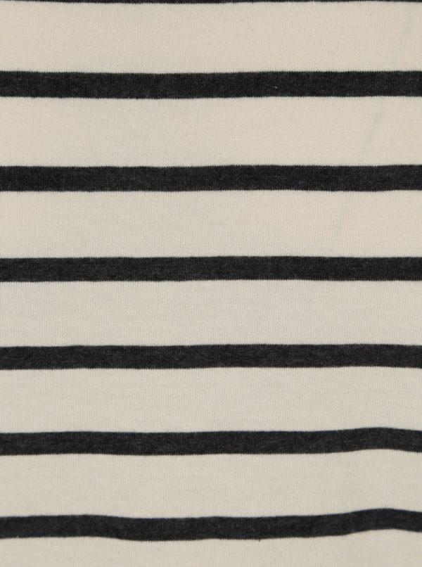 Béžové pánske pruhované tričko Broadway Glen