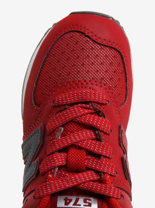 Červené detské tenisky New Balance