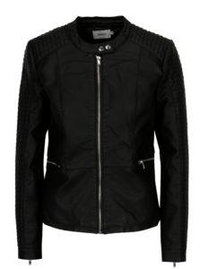 Čierna koženková bunda ONLY Heart